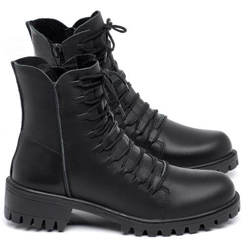 Laranja_Lima_Shoes_Sapatos_Femininos_Bota_Cano_Curto_Salto_de_4_cm_em_Couro_Preto_-_Codigo_-_137246_1