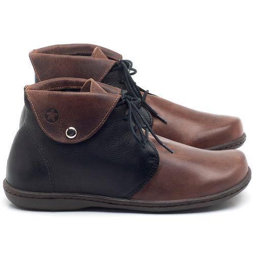 Laranja_Lima_Shoes_Sapatos_Femininos_Flat_Boot_em_Couro_Bicolor_-_Codigo_-_56126_1