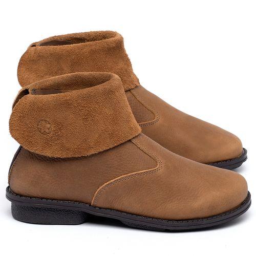 Laranja_Lima_Shoes_Sapatos_Femininos_Bota_Cano_Curto_em_Couro_Caramelo_-_Codigo_-_139048_1