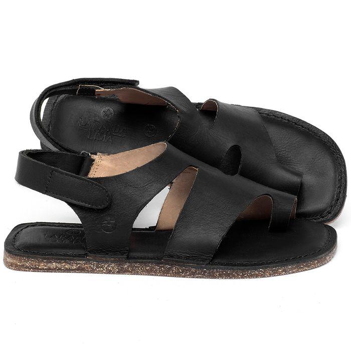 Laranja_Lima_Shoes_Sapatos_Femininos_Sandalia_Rasteira_Flat_em_Couro_Preto_-_Codigo_-_141206_1