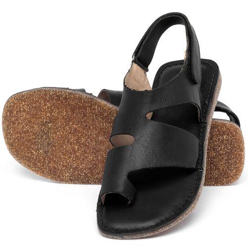 Laranja_Lima_Shoes_Sapatos_Femininos_Sandalia_Rasteira_Flat_em_Couro_Preto_-_Codigo_-_141206_2
