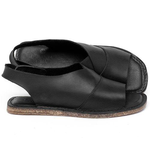 Laranja_Lima_Shoes_Sapatos_Femininos_Sandalia_Rasteira_Flat_em_Couro_Preto_-_Codigo_-_141209_1