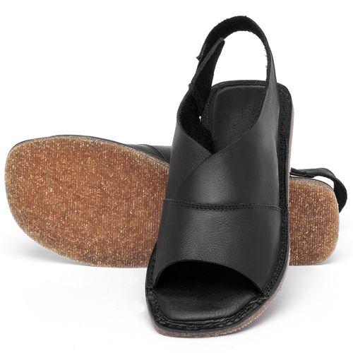 Laranja_Lima_Shoes_Sapatos_Femininos_Sandalia_Rasteira_Flat_em_Couro_Preto_-_Codigo_-_141209_2
