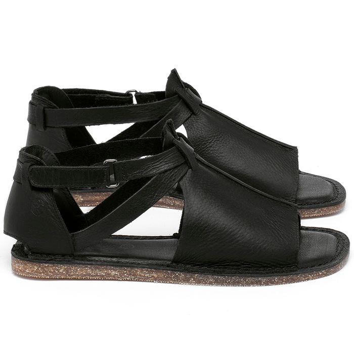 Laranja_Lima_Shoes_Sapatos_Femininos_Sandalia_Rasteira_Flat_em_Couro_Preto_-_Codigo_-_141210_1