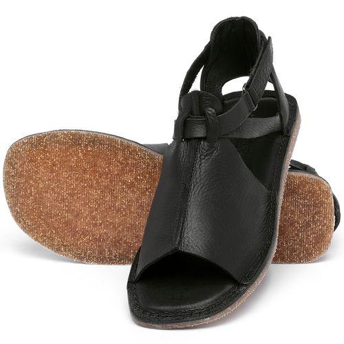 Laranja_Lima_Shoes_Sapatos_Femininos_Sandalia_Rasteira_Flat_em_Couro_Preto_-_Codigo_-_141210_2