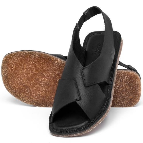 Laranja_Lima_Shoes_Sapatos_Femininos_Sandalia_Rasteira_Flat_em_Couro_Preto_-_Codigo_-_141207_2