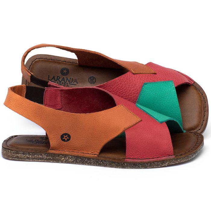 Laranja_Lima_Shoes_Sapatos_Femininos_Sandalia_Rasteira_Flat_em_Couro_Colorido_-_Codigo_-_141207_1