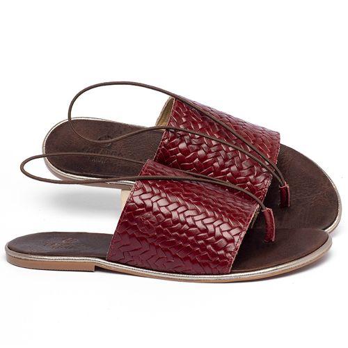 Laranja_Lima_Shoes_Sapatos_Femininos_Sandalia_Rasteira_Flat_em_Couro_Vermelho_-_Codigo_-_3657_1