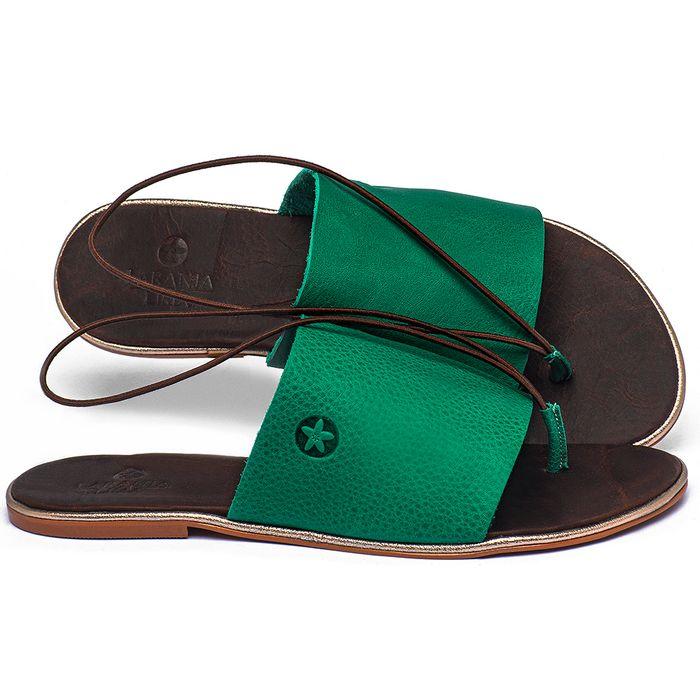 Laranja_Lima_Shoes_Sapatos_Femininos_Sandalia_Rasteira_Flat_em_Couro_Verde_-_Codigo_-_3657_1