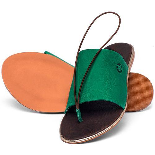 Laranja_Lima_Shoes_Sapatos_Femininos_Sandalia_Rasteira_Flat_em_Couro_Verde_-_Codigo_-_3657_2
