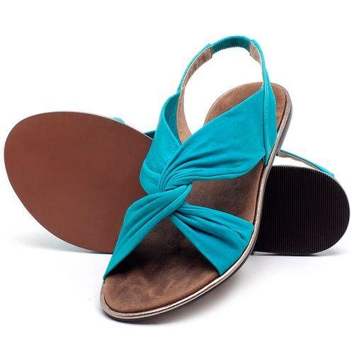 Laranja_Lima_Shoes_Sapatos_Femininos_Sandalia_Rasteira_Flat_em_Couro_Azul_-_Codigo_-_3654_2