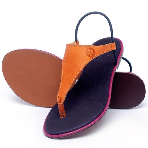 Laranja_Lima_Shoes_Sapatos_Femininos_Sandalia_Rasteira_Flat_em_Couro_Laranja_-_Codigo_-_3720_2