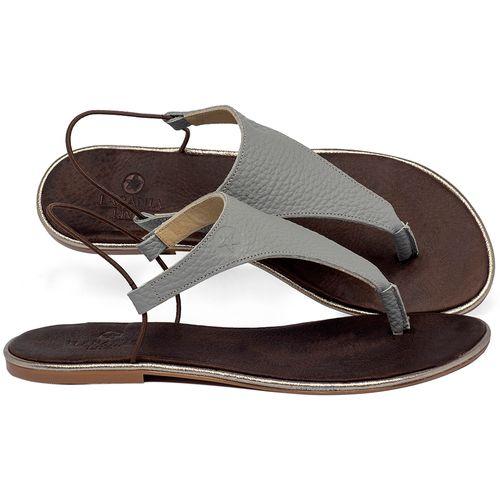 Laranja_Lima_Shoes_Sapatos_Femininos_Sandalia_Rasteira_Flat_em_Couro_Cinza_-_Codigo_-_3720_1