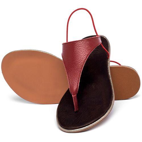 Laranja_Lima_Shoes_Sapatos_Femininos_Sandalia_Rasteira_Flat_em_Couro_Vermelho_-_Codigo_-_3720_2