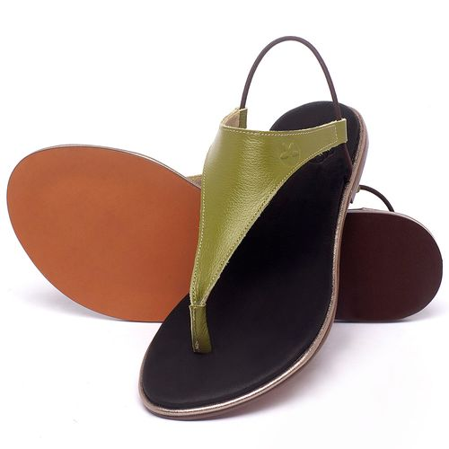 Laranja_Lima_Shoes_Sapatos_Femininos_Sandalia_Rasteira_Flat_em_Couro_Verde_-_Codigo_-_3720_2