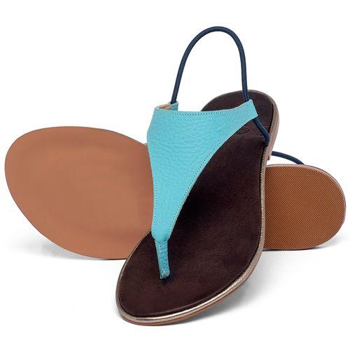 Laranja_Lima_Shoes_Sapatos_Femininos_Sandalia_Rasteira_Flat_em_Couro_Azul_-_Codigo_-_3720_2
