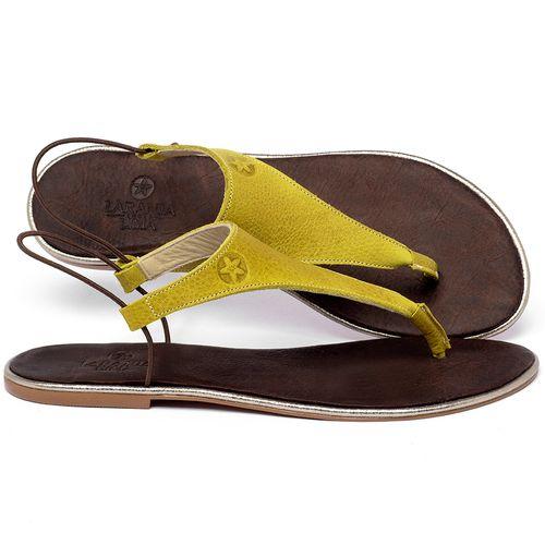 Laranja_Lima_Shoes_Sapatos_Femininos_Sandalia_Rasteira_Flat_em_Couro_Amarelo_-_Codigo_-_3720_1