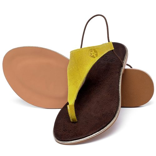 Laranja_Lima_Shoes_Sapatos_Femininos_Sandalia_Rasteira_Flat_em_Couro_Amarelo_-_Codigo_-_3720_2
