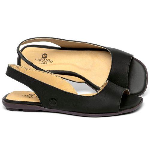 Laranja_Lima_Shoes_Sapatos_Femininos_Sapatilha_Peep_Toe_em_Couro_Preto_-_Codigo_-_9511_1