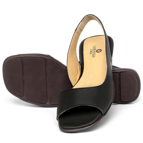 Laranja_Lima_Shoes_Sapatos_Femininos_Sapatilha_Peep_Toe_em_Couro_Preto_-_Codigo_-_9511_2