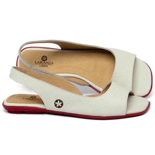 Laranja_Lima_Shoes_Sapatos_Femininos_Sapatilha_Peep_Toe_em_Couro_Off-White_-_Codigo_-_9511_1