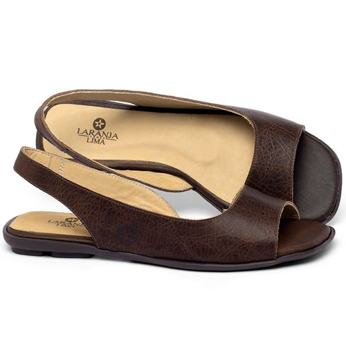 Laranja_Lima_Shoes_Sapatos_Femininos_Sapatilha_Peep_Toe_em_Couro_Marrom_-_Codigo_-_9511_1