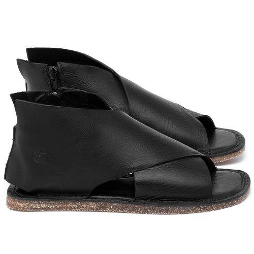 Laranja_Lima_Shoes_Sapatos_Femininos_Sandalia_Rasteira_Flat_em_Couro_Preto_-_Codigo_-_141205_1