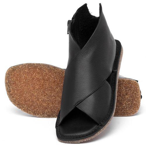 Laranja_Lima_Shoes_Sapatos_Femininos_Sandalia_Rasteira_Flat_em_Couro_Preto_-_Codigo_-_141205_2