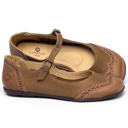 Laranja_Lima_Shoes_Sapatos_Femininos_Sapatilha_Bico_Quadrado_em_Couro_Marrom_-_Codigo_-_9474_1