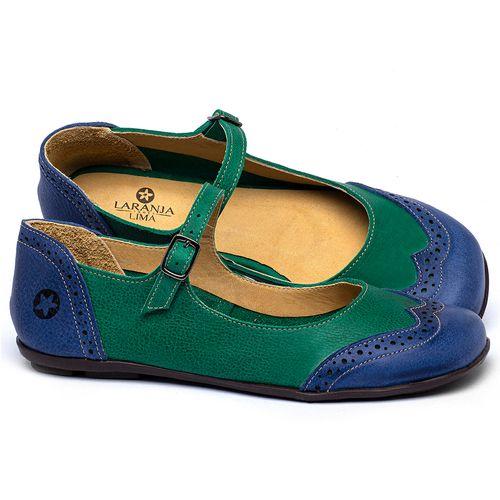 Laranja_Lima_Shoes_Sapatos_Femininos_Sapatilha_Bico_Quadrado_em_Couro_Verde_-_Codigo_-_9474_1