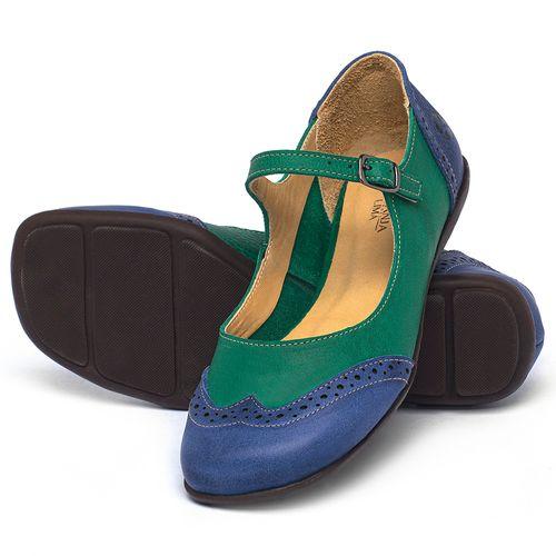 Laranja_Lima_Shoes_Sapatos_Femininos_Sapatilha_Bico_Quadrado_em_Couro_Verde_-_Codigo_-_9474_2