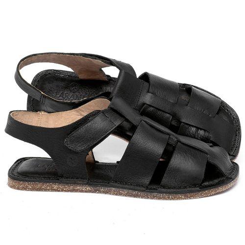 Laranja_Lima_Shoes_Sapatos_Femininos_Sandalia_Rasteira_Flat_em_Couro_Preto_-_Codigo_-_141202_1