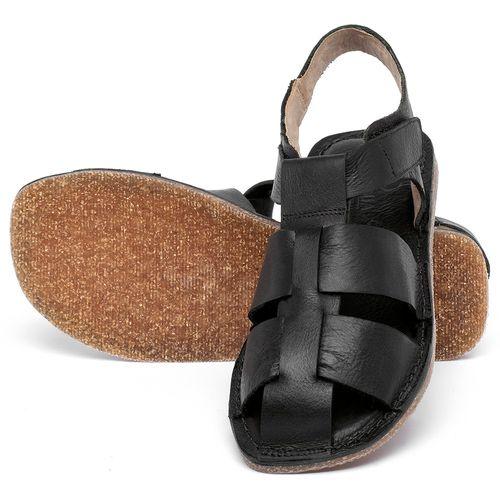 Laranja_Lima_Shoes_Sapatos_Femininos_Sandalia_Rasteira_Flat_em_Couro_Preto_-_Codigo_-_141202_2