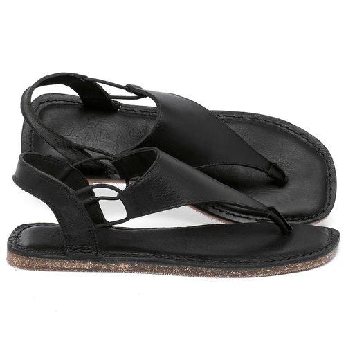 Laranja_Lima_Shoes_Sapatos_Femininos_Sandalia_Rasteira_Flat_em_Couro_Preto_-_Codigo_-_141203_1