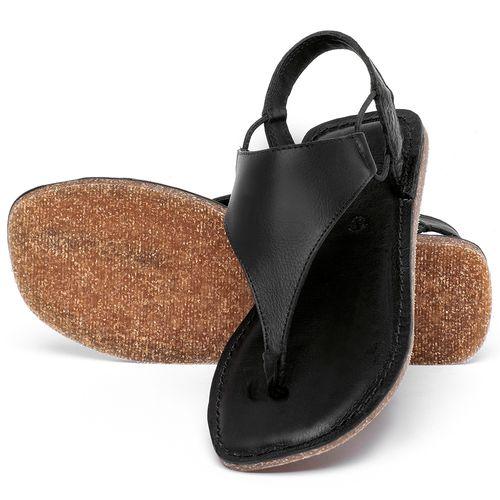 Laranja_Lima_Shoes_Sapatos_Femininos_Sandalia_Rasteira_Flat_em_Couro_Preto_-_Codigo_-_141203_2