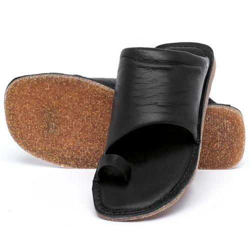 Laranja_Lima_Shoes_Sapatos_Femininos_Sandalia_Rasteira_Flat_em_Couro_Preto_-_Codigo_-_141204_2