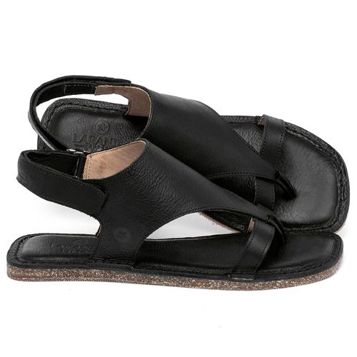 Laranja_Lima_Shoes_Sapatos_Femininos_Sandalia_Rasteira_Flat_em_Couro_Preto_-_Codigo_-_141211_1