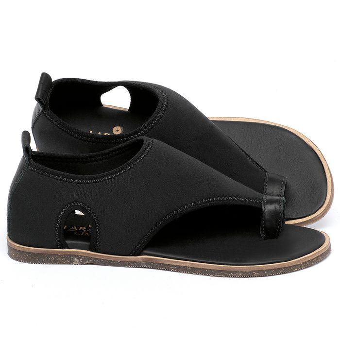 Laranja_Lima_Shoes_Sapatos_Femininos_Sandalia_Rasteira_Flat_em_Neoprene_Preto_-_Codigo_-_137349_1