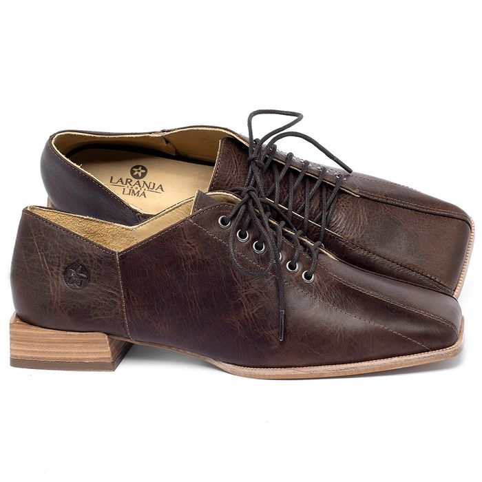 Laranja_Lima_Shoes_Sapatos_Femininos_Sapato_Laranja_Lima_Shoes_em_Couro_Marrom_-_Codigo_-_9503_1