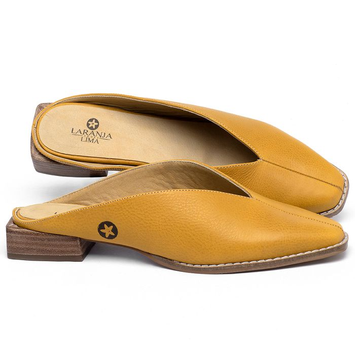 Laranja_Lima_Shoes_Sapatos_Femininos_Sapato_Laranja_Lima_Shoes_em_Couro_Amarelo_-_Codigo_-_9506_1