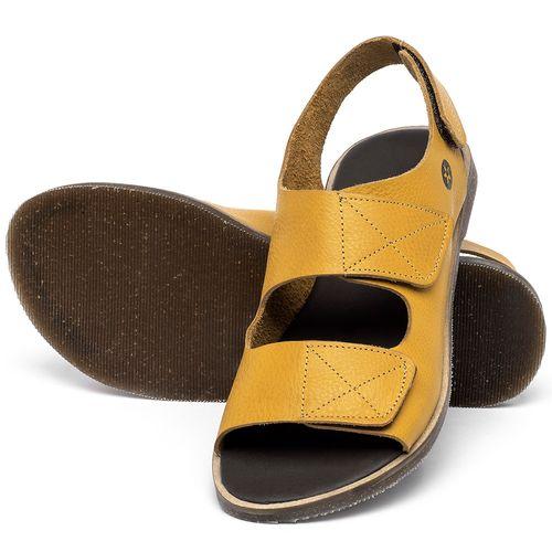 Laranja_Lima_Shoes_Sapatos_Femininos_Sandalia_Rasteira_Flat_em_Couro_Amarelo_-_Codigo_-_137329_2