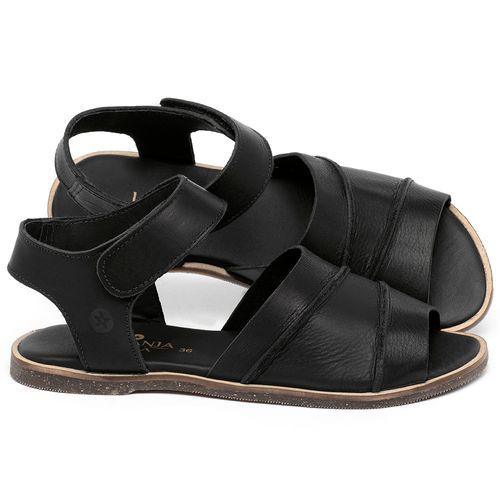 Laranja_Lima_Shoes_Sapatos_Femininos_Sandalia_Rasteira_Flat_em_Couro_Preto_-_Codigo_-_137330_1