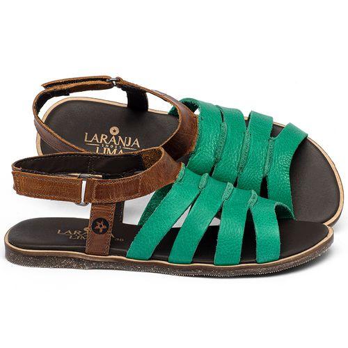 Laranja_Lima_Shoes_Sapatos_Femininos_Sandalia_Rasteira_Flat_em_Couro_Verde_-_Codigo_-_137332_1