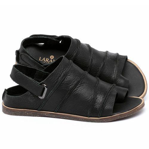 Laranja_Lima_Shoes_Sapatos_Femininos_Sandalia_Rasteira_Flat_em_Couro_Preto_-_Codigo_-_137341_1