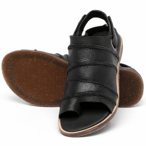 Laranja_Lima_Shoes_Sapatos_Femininos_Sandalia_Rasteira_Flat_em_Couro_Preto_-_Codigo_-_137341_2