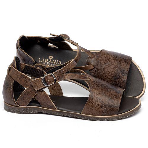 Laranja_Lima_Shoes_Sapatos_Femininos_Sandalia_Rasteira_Flat_em_Couro_Marrom_-_Codigo_-_137348_1