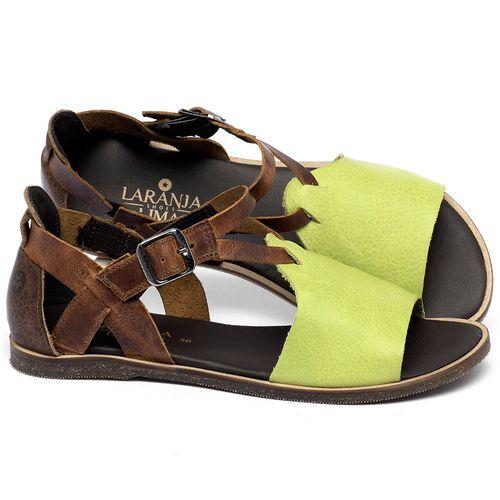 Laranja_Lima_Shoes_Sapatos_Femininos_Sandalia_Rasteira_Flat_em_Couro_Verde_-_Codigo_-_137348_1