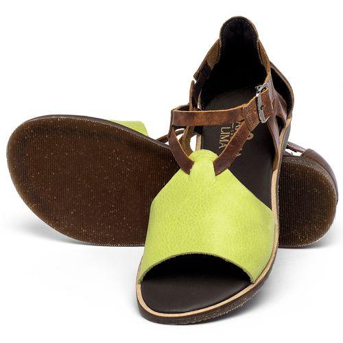 Laranja_Lima_Shoes_Sapatos_Femininos_Sandalia_Rasteira_Flat_em_Couro_Verde_-_Codigo_-_137348_2