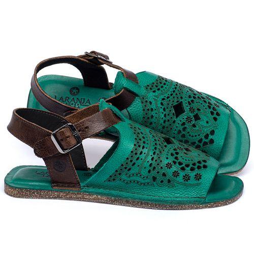 Laranja_Lima_Shoes_Sapatos_Femininos_Sandalia_Rasteira_Flat_em_Couro_Verde_-_Codigo_-_141022_1