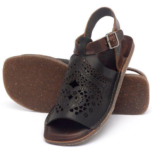 Laranja_Lima_Shoes_Sapatos_Femininos_Sandalia_Rasteira_Flat_em_Couro_Preto_-_Codigo_-_141022_2